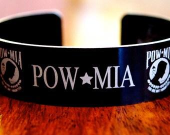 POW MIA Memorial Bracelet / Vietnam War / Korean War / WWII