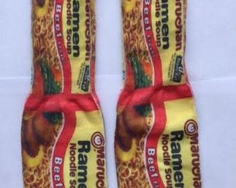 Ramen Noodle Soup Socks, Ramen Noodle
