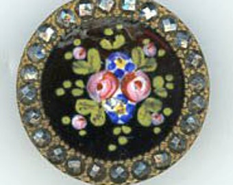 A Beautiful Enamel Button