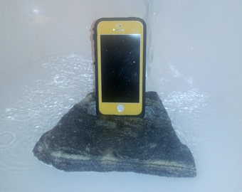 iphone android smartphone stand cut from real stone
