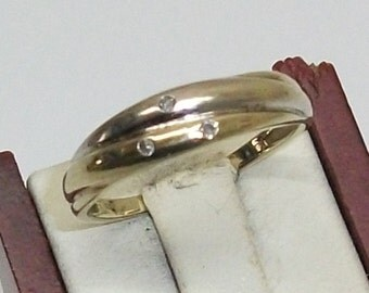 Ladies gold ring 585 diamond brilliant 17.2 ring GR104