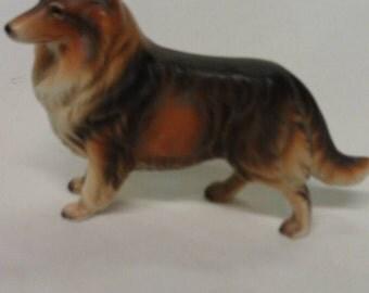 Collie Dog Figurine 1950's