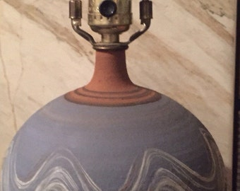 Southwestern Vintage Wheel Thrown Clay Lamp