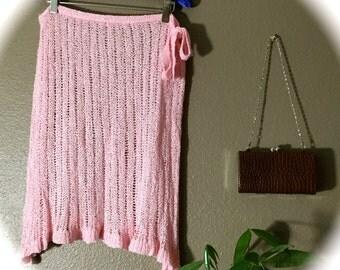 xs pink wrap skirt