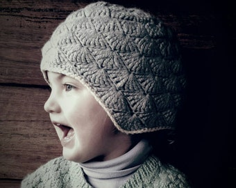 Vintage Style Knitted Kids Beanie
