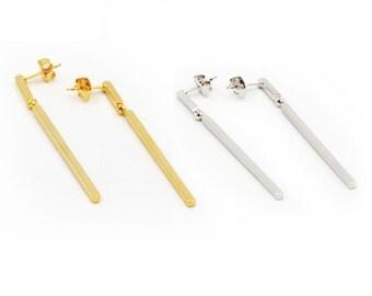 Rod Earrings  Etsy. Engagement Wedding Band. Matte Rings. Breast Cancer Bracelet. Alexandrite Wedding Rings. Gold Ankle Bracelet. Marco Bicego Bracelet. Bar Chains. Customised Wedding Rings