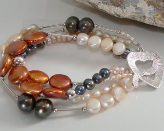 Selection of Freshwater Pearls with Sterling Silver.