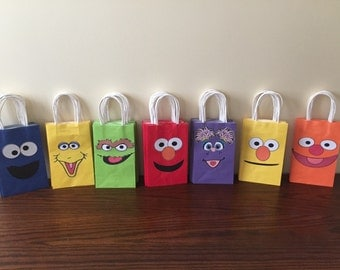 Sesame Street Gift bags (10)- we can do any theme!