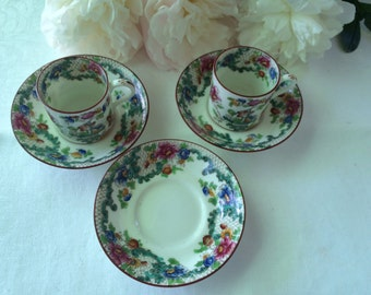Beautiful Cauldon England Demi Tasse set