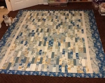 Contemporary Blue French quilt
