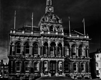 The Corn Exchange. A dark and eerie fine art photographic Giclée print of Ipswich town hall.