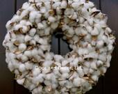 Cotton Boll Wreath~Cotton Wreath~Rustic Wedding Wreath~Mirror Wreath~Fixer Upper~Front Door Wreath~Cotton Boll~Farmhouse Wreath~magnolia