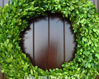 """Preserved Boxwood 20"""" Wreath~Natural~Holiday Wreath~Spring Wreath~Fixer Upper~Wedding Centerpiece~Rustic~Farmhouse"""