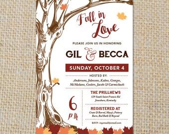 PRINTABLE Fall-Themed Shower Invitation