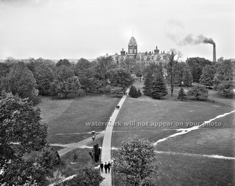 Vintage OHIO STATE UNIVERSITY (c.1900) - College Campus Picture - Reprint Photograph avail in sizes - 8x10 - 11x14 - 16x20 - Buckeyes Photo
