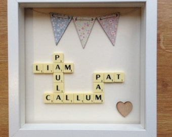 Scrabble Bunting Picture Gift