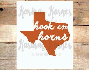Hook Em Horns- UT Printable Wall Art