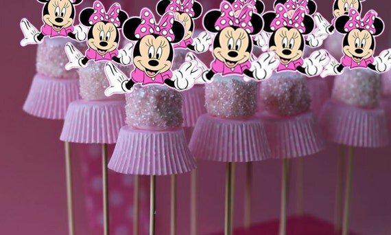Minnie Mouse Marshmallow Topper Cake Pop Topper Cupcake