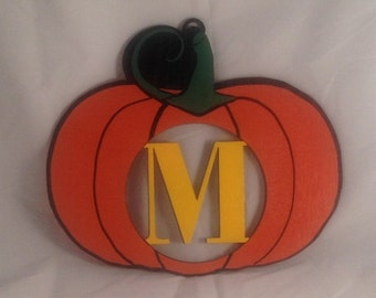 Pumpkin Hanger with Personalized Monogram