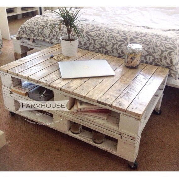 Pallet coffee table lemmik farmhouse style by for Mobilier shabby chic