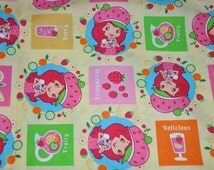 One Yard of Strawberry Shortcake 100% Cotton Quilt Fabric