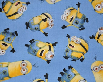 One yard of Blue  Minion 100% Cotton Quilt Fabric by Quilting Treasures