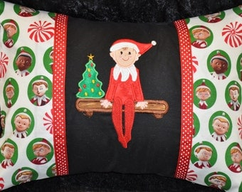 "12"" x 16"" Elf On The Shelf Christmas Home Dec Kids Holiday Pillow"