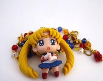Sailor Moon Kawaii Crystal necklace anime cosplay jewelry