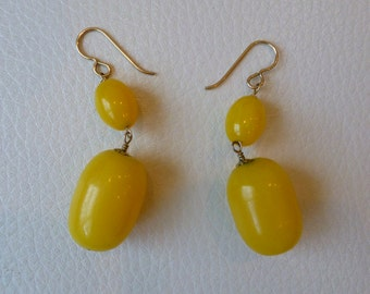 Honey Yellow Statement Drop Earrings