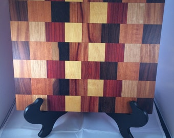 Exotic hardwood cutting, cheese or bread board