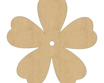 Flower Shape Laser Cut Unfinished Wood Shapes, Craft Shapes, Gift ...