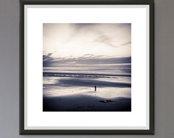 EXTRA 50% OFF Multiple Purchases Downloadable Print Photo Beach Scene Black and White Photo