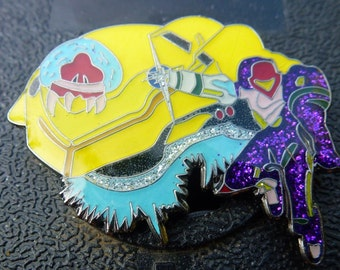 Very Cool Super Metroid Samus Nintendo Hat Pin