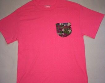 Pink Lemonade Pattern Pocket Tee
