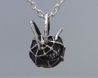 "spider smile jewelry necklace pendant sterling silver ball "" smile&spider"" s_m-P.40"
