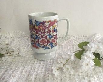 Vintage mug / coffee cup / coffee mug / floral mug / cup / porcelain mug, retro mug/ 70's Mug