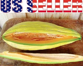 30+ ORGANIC Banana Melon Seeds Heirloom NON-GMO Rare Creamy Sweet Fragrant Tasty