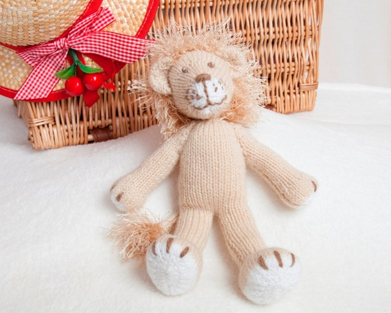 Knitting Pattern For A Toy Lion : Pdf Knitting Pattern Lion Toy by Angela Turner from AngelaTurnerDesigns on Et...