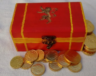 Game of Thrones, Lannister, Chest, Game Of Thrones Box, Cersei Lannister, Lannister Jewelry Box, Lannister Jewelry, House Lannister