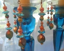 Somewhere in Time, Upcycled Bobeches with Vintage Necklaces, Candle Wax Catchers