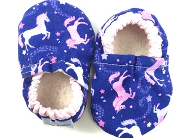 Unicorn baby shoes girl baby booties baby soft sole shoes toddler shoes pink crib shoes purple baby shoes fairytale baby princess shoes