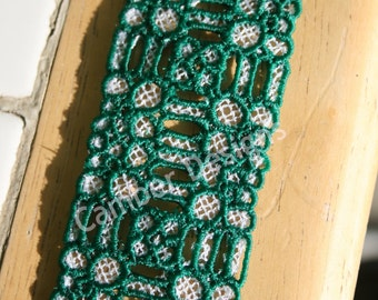 Lace Bookmark - Squares, Loops and O's
