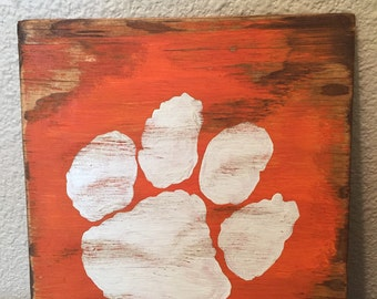 Clemson Tiger Paw Decor