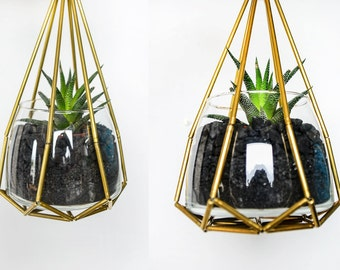Geometric Hanging Holder (for plant or candle)
