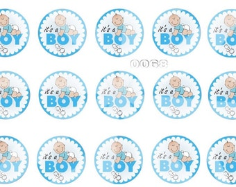It's a Boy BottleCap Images