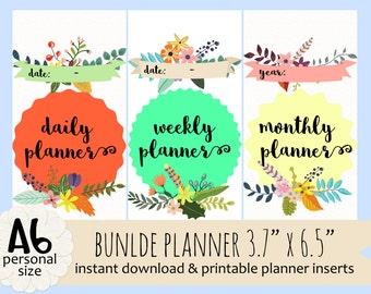 Islamic DAILY, WEEKLY, & MONTHLY Planners by Kecilmamil (Personal Size - Bundle - Printable - Instant Download)