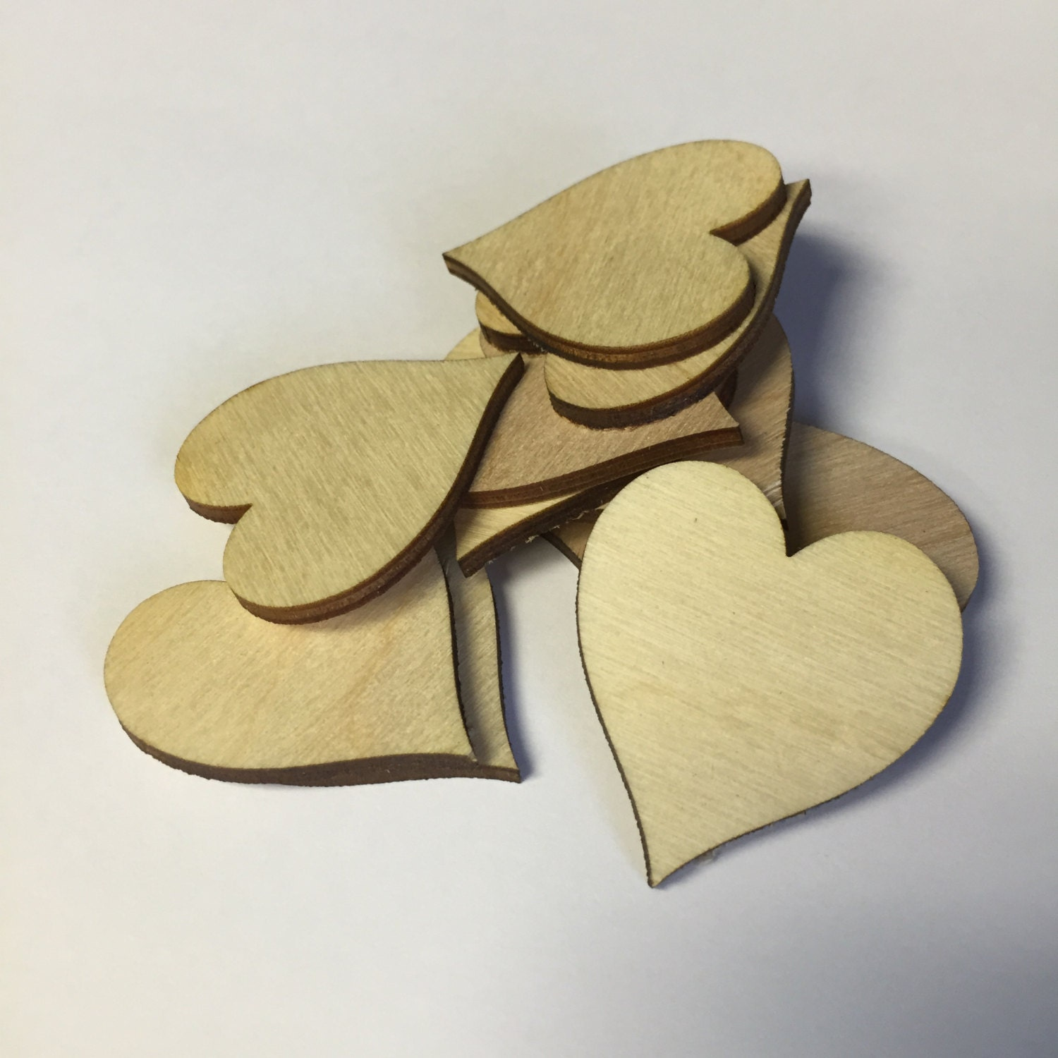Wooden hearts qty 100 wood heart craft supplies pick your for Wooden hearts for crafts