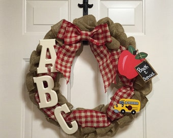 Back 2 school teacher wreath