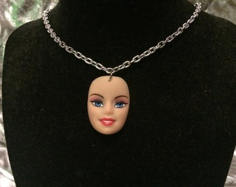 Barbie Head Necklace