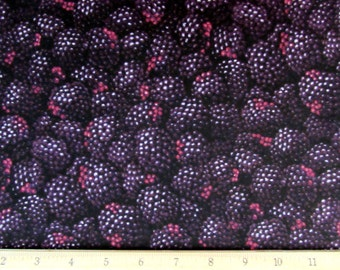 Realistic Blackberries Fabric